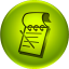 Green circle icon with notepad in middle